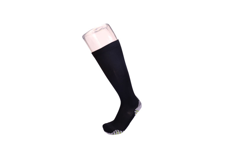 Black Knitted knee high sports compression socks