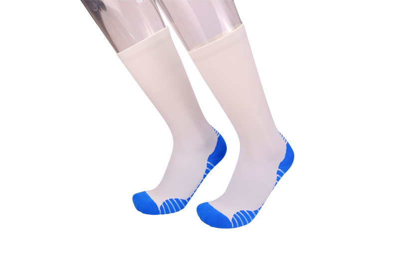 White breathable sports compression socks