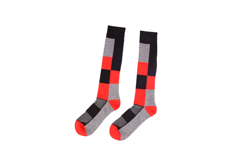 Performance cotton wool ski socks