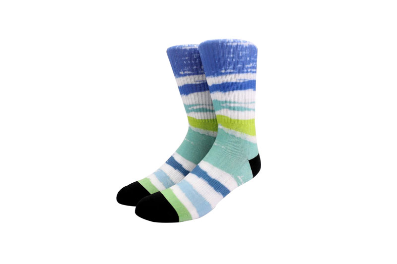 360 Digital Men's Color stripe sports Printing socks