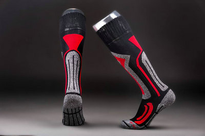 Cotton compression ski socks
